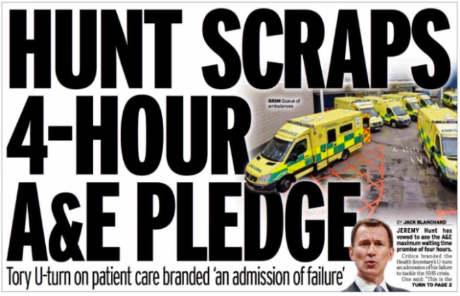 'Removing the four hour A&E target – stupid, or sinister?'